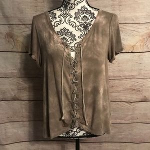 American Eagle Size Large Soft & Sexy Lace Up Tee